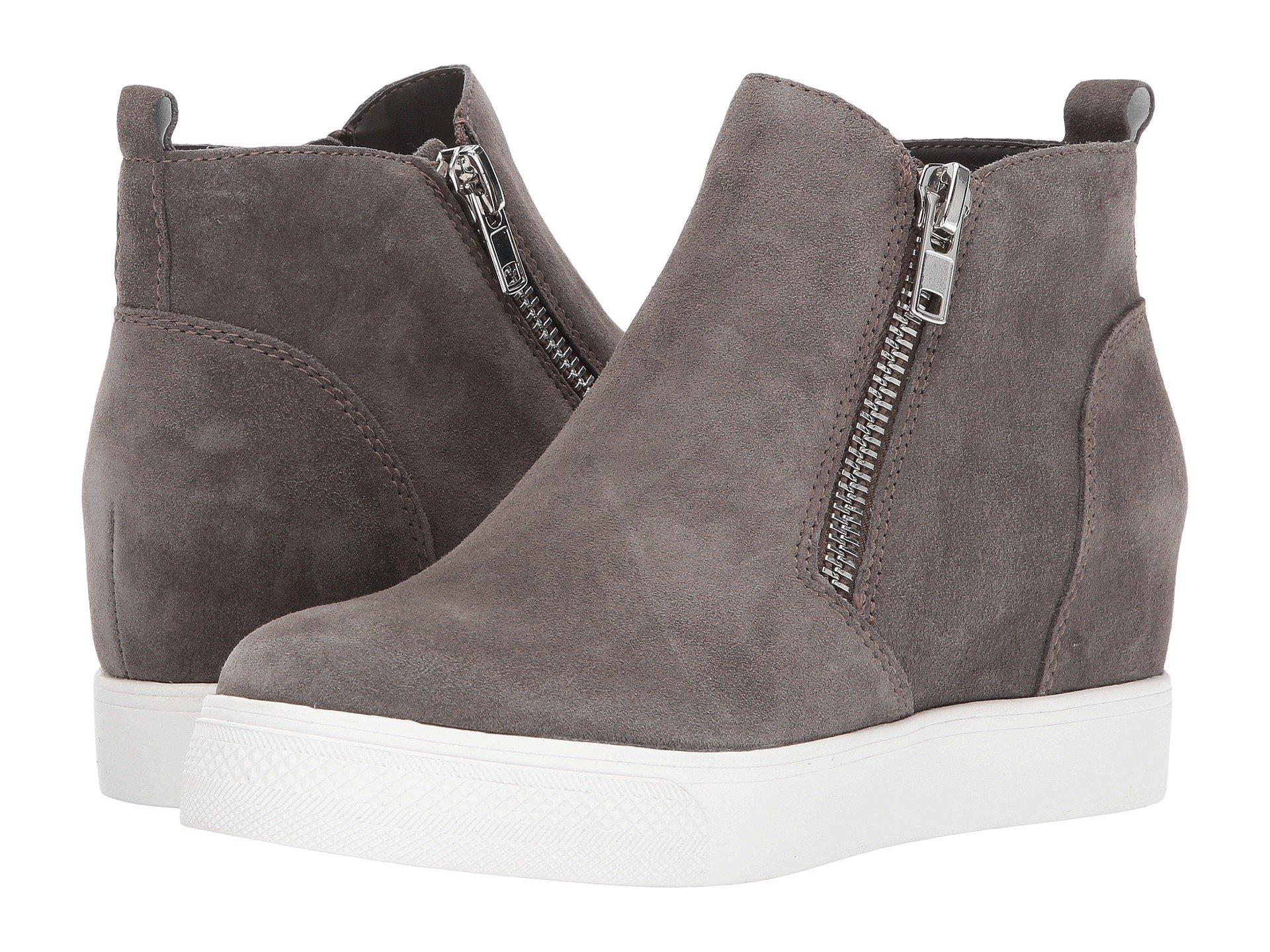 Suede Grey Sneaker Steve Madden Wedgie RfqwIt