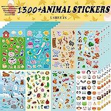 Sinceroduct Animal Stickers, Stickers for Kids Assortment Set 1300 PCS, 8 ThemesCollection for Children, Teacher, Parent,...