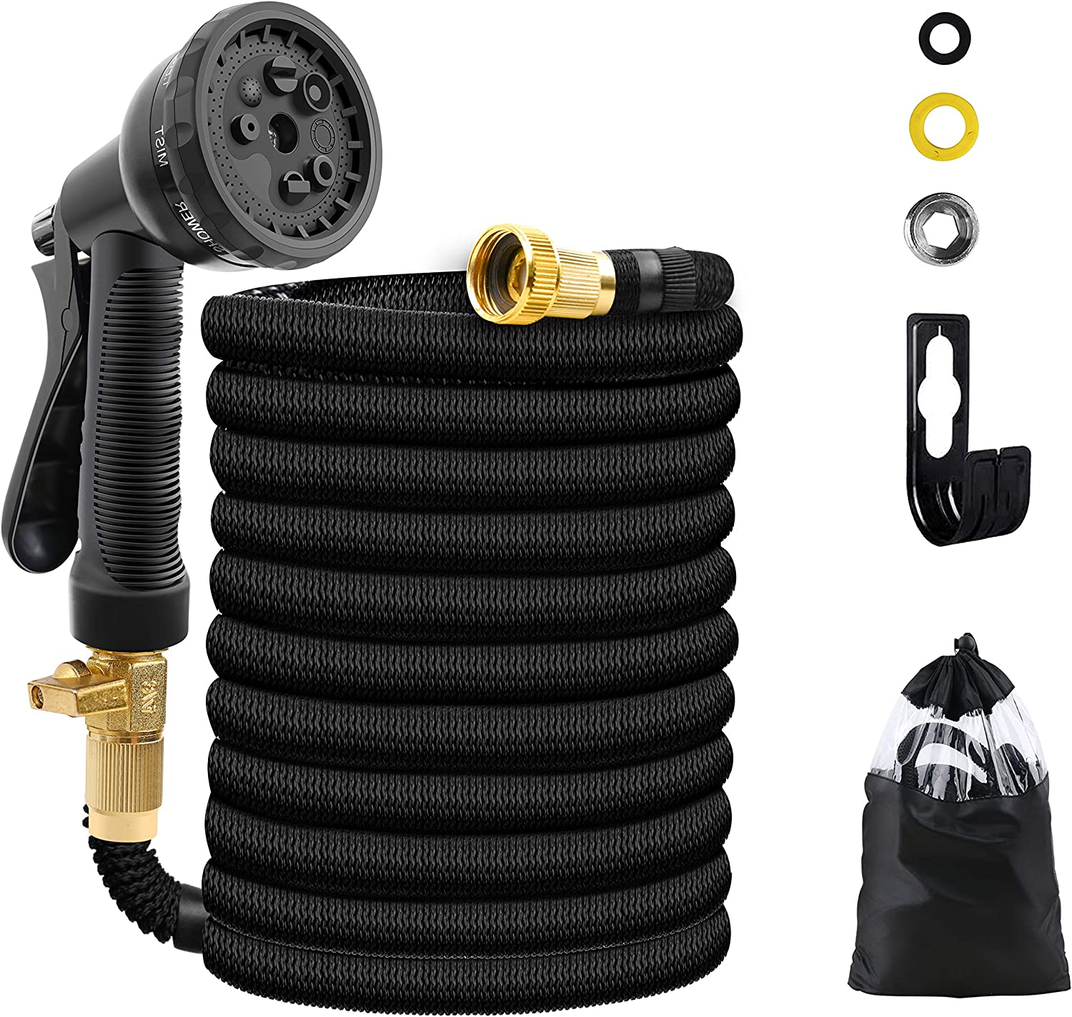 UJUJIA Expandable Ranking TOP20 Garden Hose Extra E Flexible Fabric Mail order Strength