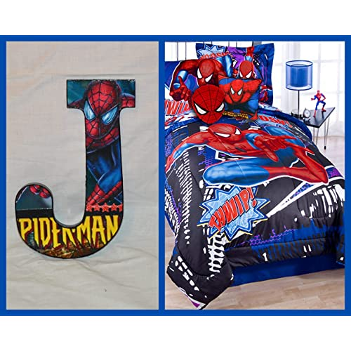 Ideal To Match Spiderman Duvets /& Spiderman Wall Decals. Spiderman Lampshades