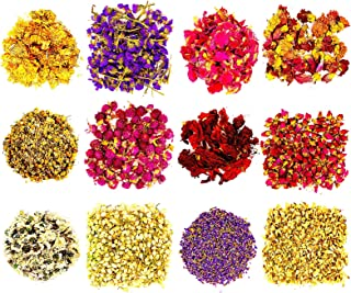 Sponsored Ad - Dried Herbs and Flowers for Soap Making - 12 Mix Pack Flower Arrangements Rose Petals Lavender Jasmine and ...