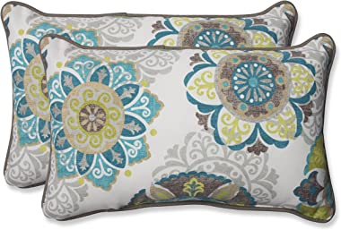 Pillow Perfect Outdoor Allodala Rectangular Throw Pillow, Oasis, Set of 2