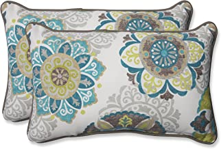 Pillow Perfect Outdoor Allodala Rectangular Throw Pillow, Oasis, Set of 2