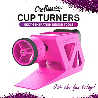 Craftisserie Rotisserie Motor Tumbler Turner Machine - The Ultimate Cup Turner Kit for Creating Glitter Epoxy Cups and Cup Spinner Crafts - Universal Wand for 10, 20, 30, and 40oz Tumblers (Pink)