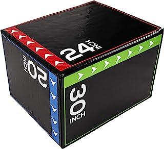 "BalanceFrom 3 in 1 20""x24""x30"" Foam Plyometric Box Jumping Exercise"