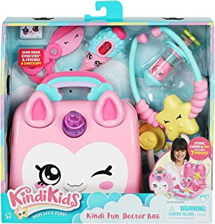 Kindi Kids Doctor Bag - Kindi Fun Unicorn Toy Doctor Bag with Shopkins Thermometer and Many More Accessories, Multicolor (...