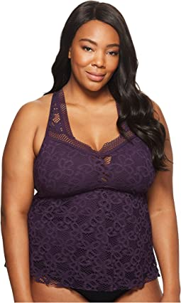 BECCA by Rebecca Virtue - Plus Size Captured Tankini Top