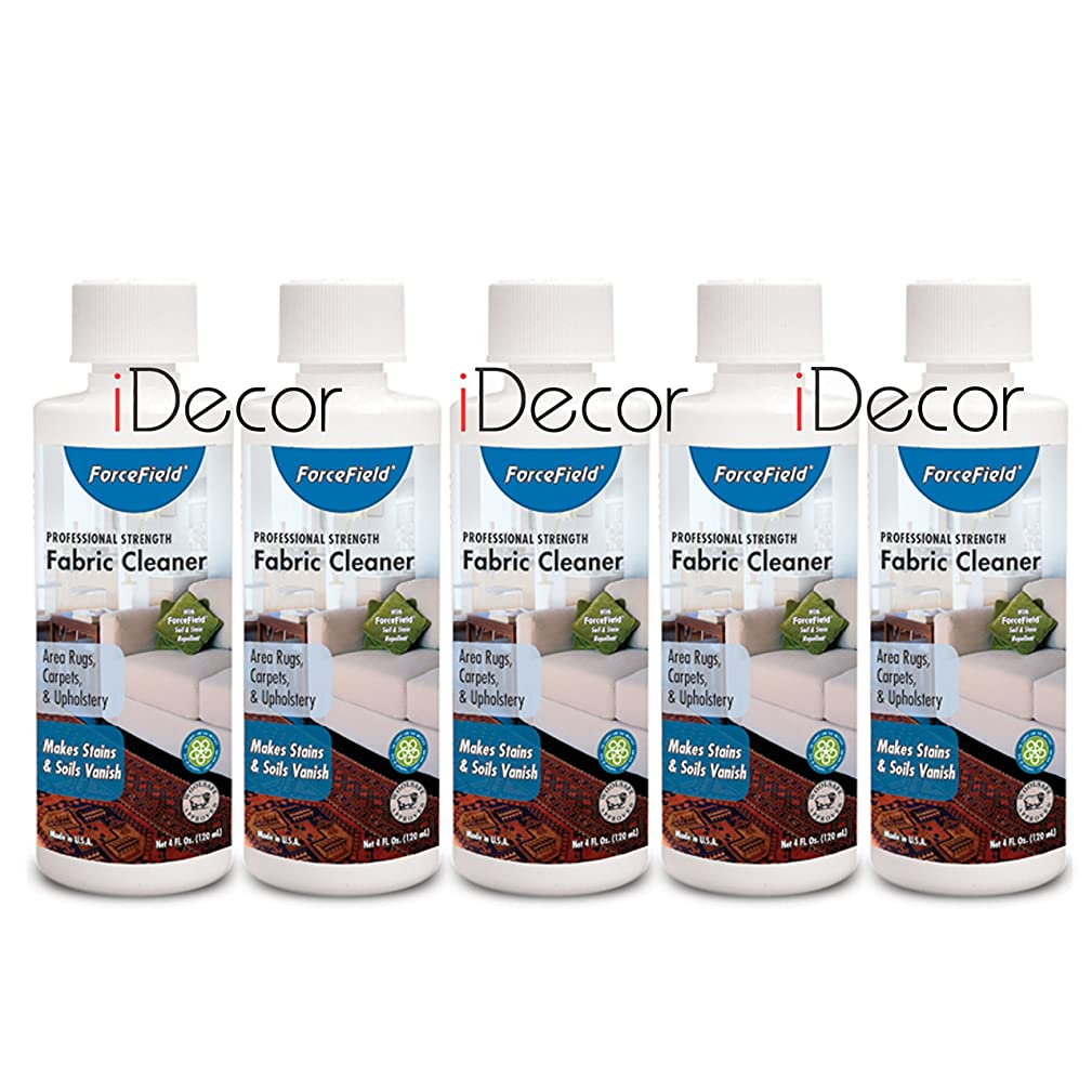 ForceField Fabric Cleaner - set of 5 cleaners - 4oz each
