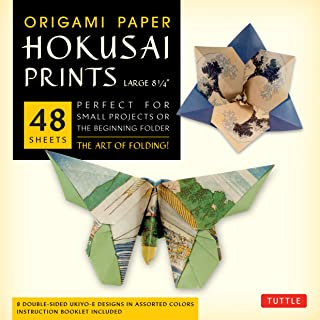 Origami Paper - Hokusai Prints - Large 8 1/4