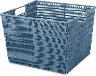 Whitmor Rattique Storage Tote Blue