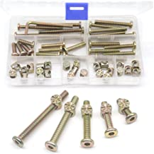 M6 Baby Crib Hardware Replacement Kit, cSeao 50pcs Socket Cap Bolts Barrel Nuts Assortment Kit for Bunk Bed Furniture Chairs, M6x20mm/ 30mm/ 40mm/ 50mm/ 60mm