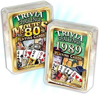 Flickback Media, Inc. 1989 Trivia Playing Cards & 1980's Movie Trivia Combo: 30th Birthday or Anniversary