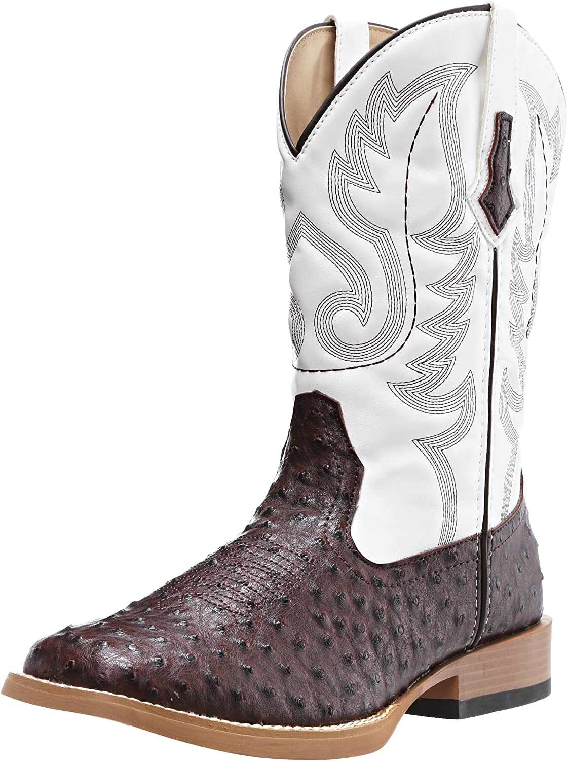 ROPER Western Boots Mens 67% OFF of fixed price Max 56% OFF Faux Brown 09-020-1900-00 Ostrich White