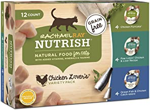 Rachael Ray Nutrish Wet Cat Food, 2.8 Ounce Cups, Grain Free