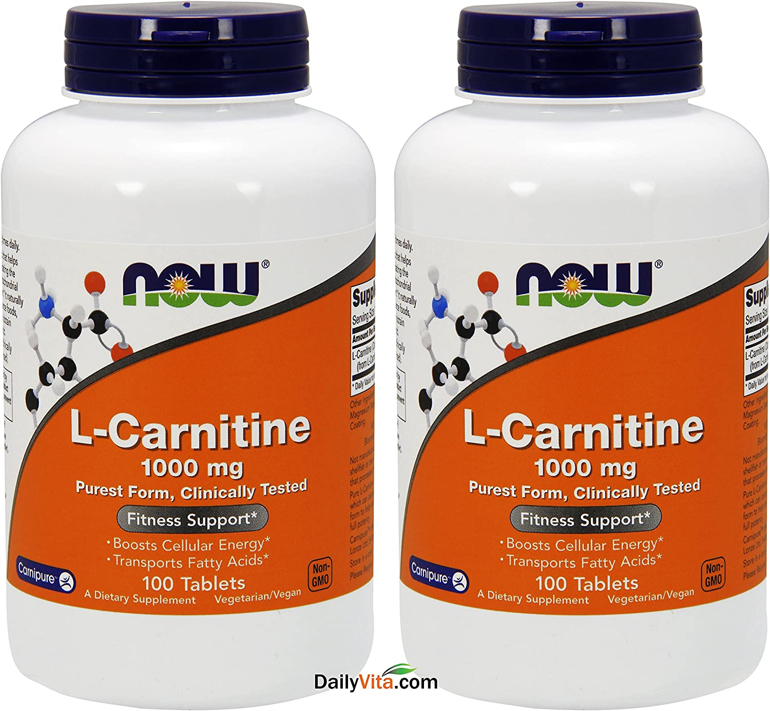 NOW Foods L- Limited price Carnitine Tartrate 1000mg 2 Tablets Trust 100 Pack of