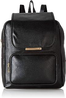 Envias Women's Leatherette Backpack (Black)