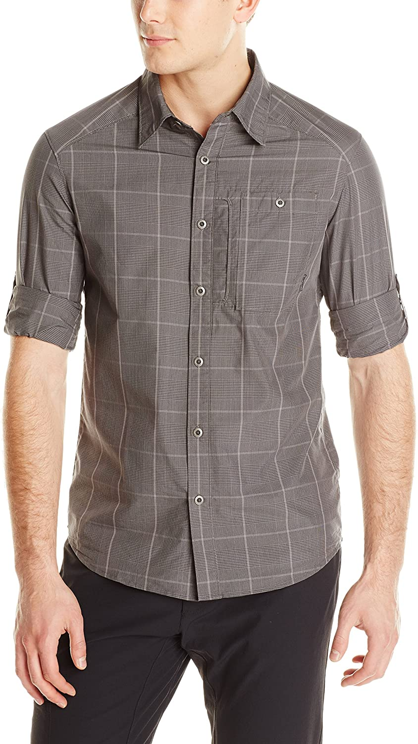 Merrell Men's 2021 model Challenge the lowest price of Japan ☆ Sarawan Long Charcoal Shirt Sleeve XX-Large