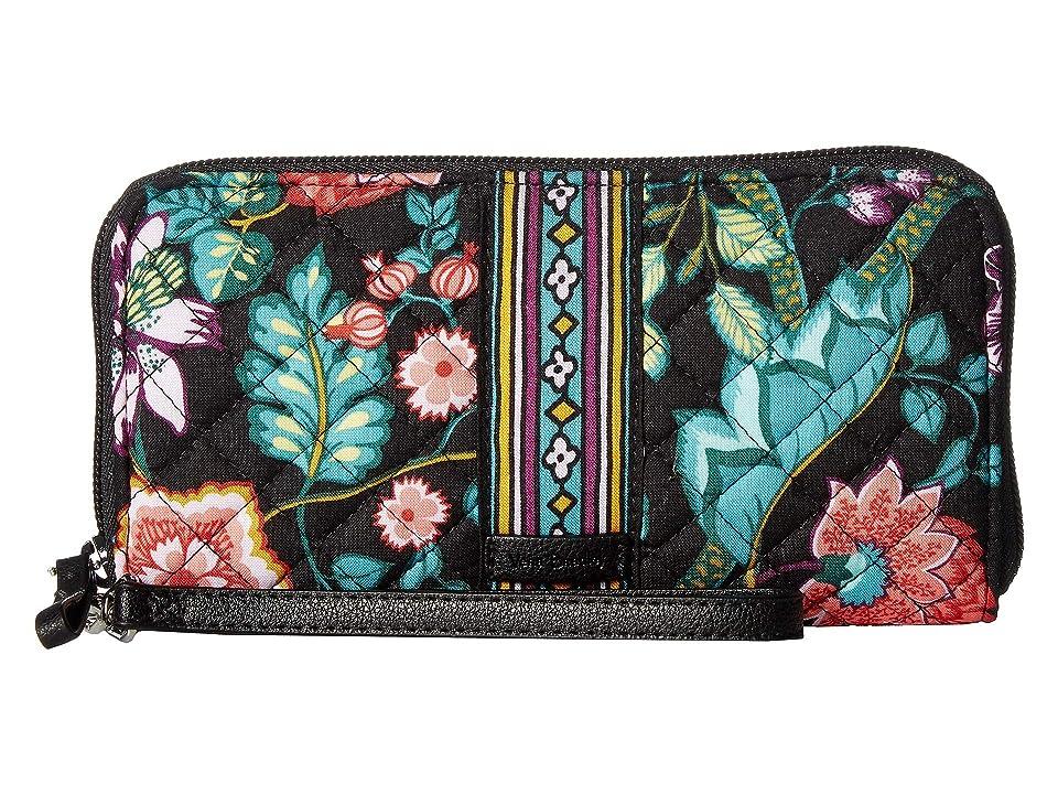 Vera Bradley Iconic RFID Accordion Wristlet (Vines Floral) Wristlet Handbags