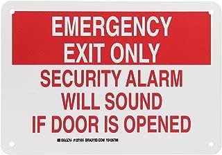 Brady 127165 Fire Safety Sign, Legend