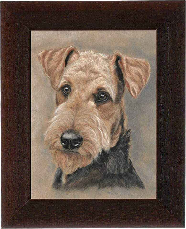 Airedale Terrier Framed Art Print Dog Lovers Gifts Boxed with Certificate.