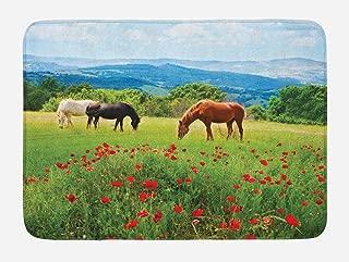 horse print rug