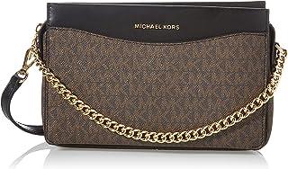 Michael Kors Womens Jet Set Handtasche, Brown/Blk, Large