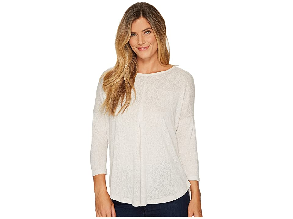 B Collection by Bobeau Alma Relaxed Fit Tee (Silver Cloud) Women