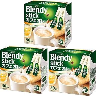 Blendy Stick Cafe Au Lait (0.49oz X 30pcs) × 3 boxes