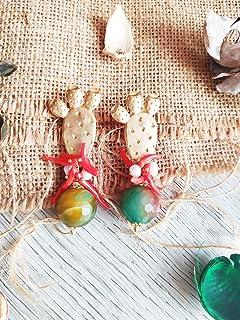 Orecchini Siciliani Pale di Fico d' India con Pietra naturale Verde