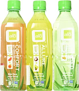 alo Aloe Vera Drink Variety 16.9 oz Bottle (Pack of 12)