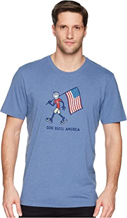 God Bless America Crusher Tee