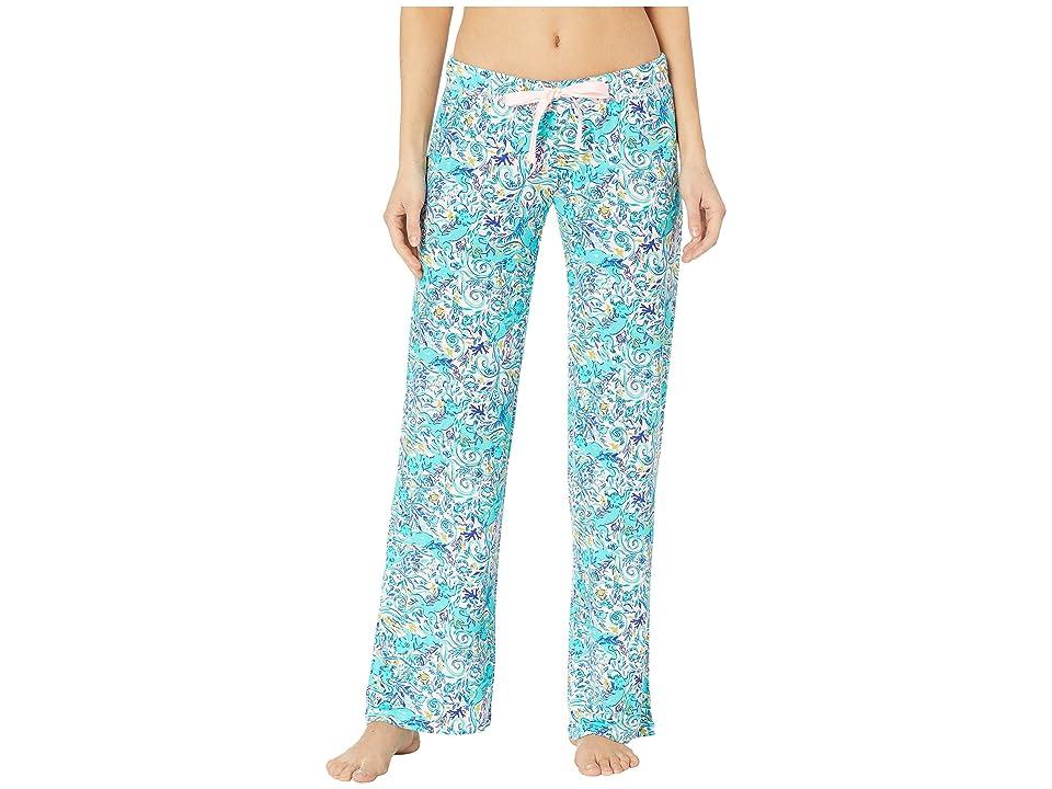 Lilly Pulitzer PJ Knit Pants (Melon Fig Tint Monkey Sea) Women