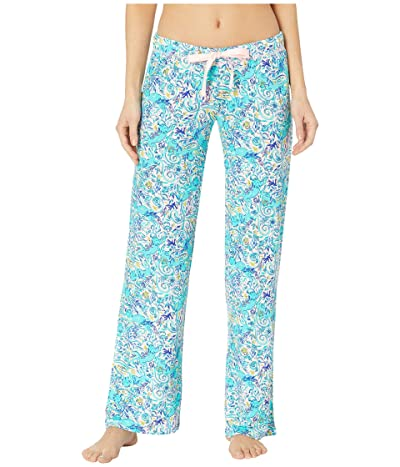 Lilly Pulitzer PJ Knit Pants (Melon Fig Tint Monkey Sea) Women