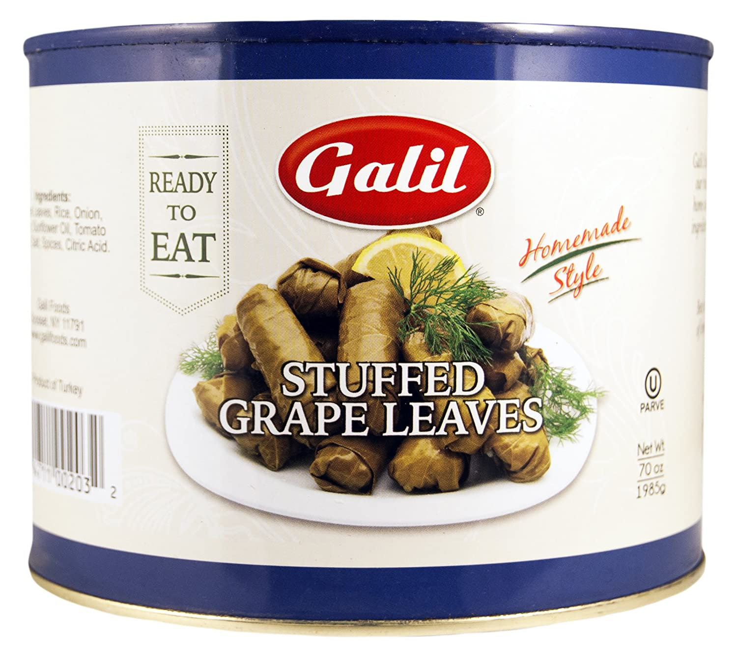 Galil Stuffed Grape Leaves Large 2 of Spring new work one after another Detroit Mall 70-Ounce Pack Cans