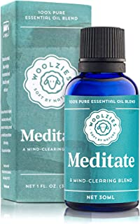 Woolzies 100% Pue Meditate Essential oil Blend 1 Fl Oz   Promotes Relaxation and Restful Sleep Environment, Lessens Feelin...