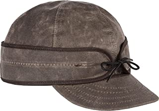 Stormy Kromer Waxed Cotton Cap- Light Weight Fall Hat with Earflaps