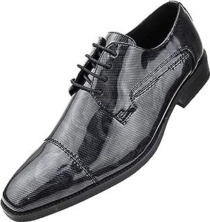 The Original Men's High Shine Tuxedo Cap Toe Oxford Dress Shoes