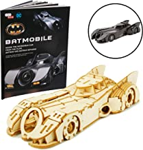 DC Batman and Batman Returns Batmobile Signature Series Book and 3D Wood Model Figure Kit - Build, Paint and Collect Your Own Toy Model - for Kids and Adults, 12+ - 7