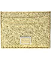 Dolce & Gabbana - Metallic Leather Cardholder