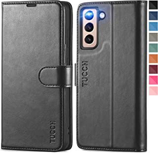 TUCCH Galaxy S21 Case, Galaxy S21 Wallet Case, Protective PU Leather Case with [RFID Blocking][Viewing Stand][Card Slots][...
