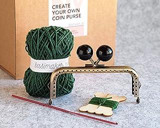 Kit para hacer un monedero de boquilla de crochet con patrón en español