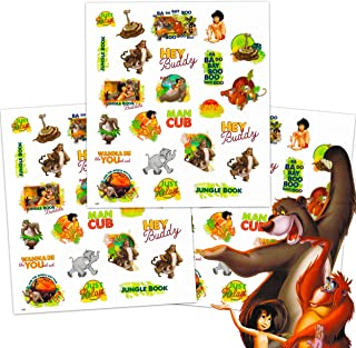 Disney Jungle Book Tattoos Party Favors Pack ~ Bundle Includes Over 100 Jungle Book Temporary Tattoos (Jungle Book Party S...
