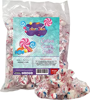Cotton Candy Flavored Red Bird Peppermint Puffs WRAPPED Candy Mints - 2 Pounds