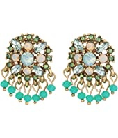 Marchesa - Lighter Than Air Cluster Button Earrings