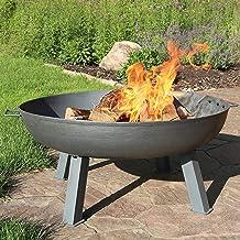 Large Round Bonfire, Garden Heavy Duty Fire Bowl, Big Outdoor Fire Pit, Patio & Backyard Firepit for Outside, Steel Colore...