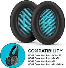 Brainwavz Premium Earpads for Bose QC15 QC25 QC35 QC35 II AE2 AE2i AE2w, QuietComfort, SoundTrue & SoundLink, with Memory Foam, Ear Pads, Black
