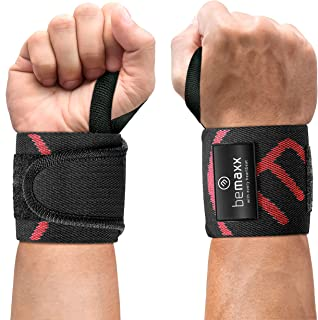 Handleden Handledsstöd Wrist Wraps - Tyngdlyftning Kraftlyftning, Set med 2 One Size | Pro tyngdlyftningsremmar för krafti...
