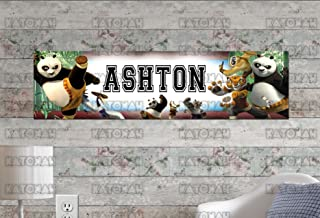 Customized Name Painting Kung Fu Panda Poster with Your Name On It Personalized Banner