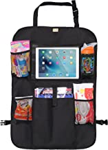 Zohzo Car Back Seat Organizer with Tablet Holder - Touch Screen Pocket for Android & iOS Tablets up to 10.5