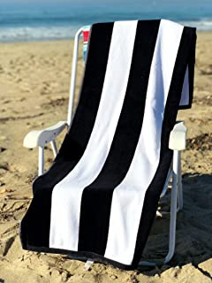Ephesus Beach Towel Cabana Striped One Side Terry and One Side Velour 35